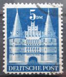 Poštovní známka Německo 1949 Holstentor v Lübecku Mi# 100