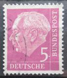 Poštovní známka Německo 1954 Prezident Heuss Mi# 179 x W