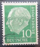 Poštovní známka Německo 1954 Prezident Heuss Mi# 183 x W