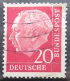 Poštovní známka Německo 1954 Prezident Heuss Mi# 185 x W