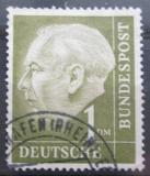 Poštovní známka Německo 1954 Prezident Heuss Mi# 194 x X