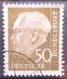 Poštovní známka Německo 1957 Prezident Heuss Mi# 261 x