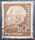 Poštovní známka Německo 1957 Prezident Heuss Mi# 262 x