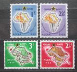 Poštovní známky Ghana 1958 Mapa Afriky Mi# 24-27