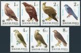 Poštovní známky Maďarsko 1983 Dravci, WWF Mi# 3624-30 Kat 6.50€
