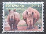 Poštovní známka Botswana 2011 Nosorožec tuponosý, WWF Mi# 954