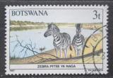 Poštovní známka Botswana 1987 Zebra stepní Mi# 405