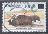 Poštovní známka Botswana 1992 Hroch obojživelný přetisk Mi# 506