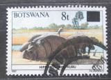 Poštovní známka Botswana 1992 Hroch obojživelný přetisk Mi# 505