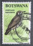 Poštovní známka Botswana 1967 Drozd pruholící Mi# 21