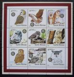 Poštovní známky Guinea-Bissau 2001 Sovy Mi# 1437-45 Kat 15€