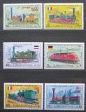 Poštovní známky Adžmán 1971 Staré lokomotivy Mi# 1197-1202