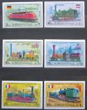 Poštovní známky Adžmán 1971 Staré lokomotivy neperf. Mi# 1197-1202 B Kat 7€