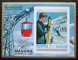 Poštovní známka Manáma 1970 ZOH Sapporo neperf. Mi# Block 90 B Kat 20€