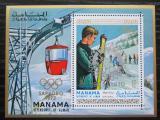 Poštovní známka Manáma 1971 ZOH Sapporo přetisk Mi# Block 129 A Kat 15€