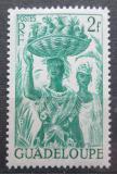 Poštovní známka Guadeloupe 1947 Žena s ananasem Mi# 220