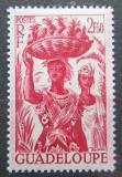 Poštovní známka Guadeloupe 1947 Žena s ananasem Mi# 221