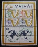Poštovní známky Malawi 1974 UPU, 100. výročí Mi# Block 36