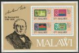 Poštovní známky Malawi 1979 Sir Rowland Hill Mi# Block 56
