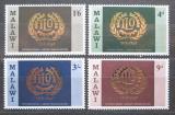 Poštovní známky Malawi 1969 ILO, 50. výročí Mi# 106-09