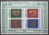 Poštovní známky Malawi 1969 ILO, 50. výročí Mi# Block 13 Kat 6€