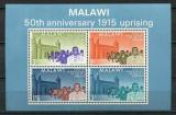 Poštovní známky Malawi 1965 Povstání roku 1915, 50. výročí Mi# Block 3 Kat 10€