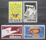 Poštovní známky Ghana 1964 Organizace pro africkou jednotu OAU Mi# 177-80