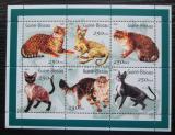 Poštovní známky Guinea-Bissau 2001 Kočky Mi# 1522-27 Kat 6.50€
