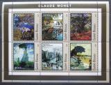 Poštovní známky Guinea-Bissau 2001 Umění, Claude Monet Mi# 1612-17 Kat 8€