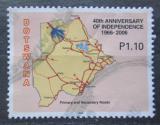 Poštovní známka Botswana 2006 Mapa Mi# 835