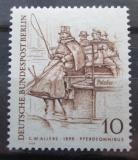 Poštovní známka Západní Berlín 1969 Vůz tažený koňmi Mi# 332