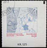 Poštovní známka Dánsko 2013 Mapa Evropy Mi# 1762