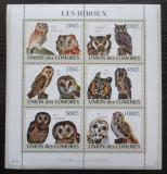 Poštovní známky Komory 2009 Sovy Mi# 2191-96 Kat 14€