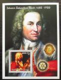 Poštovní známka Guinea 2002 Johann Sebastian Bach Mi# Block 753 Kat 11€