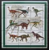 Poštovní známky Guinea-Bissau 2001 Dinosauři Mi# 1554-62 Kat 10€