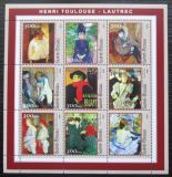 Poštovní známky Guinea-Bissau 2001 Umění, Toulouse-Lautrec Mi# 1669-77 Kat 11€