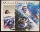 Poštovní známka Guinea-Bissau 2019 Gagarin, Těreškovová Mi# N/N