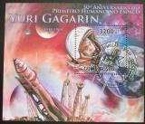 Poštovní známka Guinea-Bissau 2011 Jurij Gagarin Mi# Block 927 Kat 13€