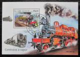 Poštovní známka Angola 2019 Parní lokomotivy Mi# N/N
