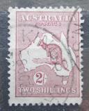 Poštovní známka Austrálie 1935 Klokan a mapa Mi# 107 X