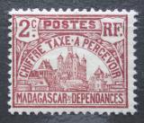 Poštovní známka Madagaskar 1908 Vládní budova, doplatní Mi# 8