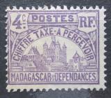Poštovní známka Madagaskar 1908 Vládní budova, doplatní Mi# 9