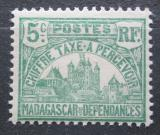 Poštovní známka Madagaskar 1908 Vládní budova, doplatní Mi# 10