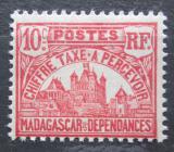 Poštovní známka Madagaskar 1908 Vládní budova, doplatní Mi# 11
