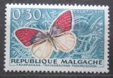 Poštovní známka Madagaskar 1960 Colotis zoe Mi# 445