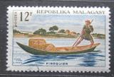 Poštovní známka Madagaskar 1965 Doprava pošty na lodi Mi# 541