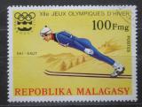 Poštovní známka Madagaskar 1975 ZOH Innsbuck, skoky na lyžích Mi# 768
