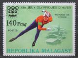 Poštovní známka Madagaskar 1975 ZOH Innsbuck, rychlobruslení Mi# 769