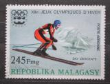 Poštovní známka Madagaskar 1975 ZOH Innsbuck, sjezdové lyžování Mi# 771