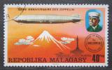 Poštovní známka Madagaskar 1976 Vzducholoď LZ-127 nad Japonskem Mi# 783